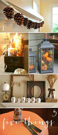 Festive fall decorating! A Christmas version would be magical too!