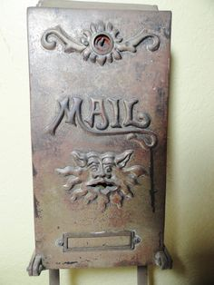 Vintage Mail Box Architectural Brass Antique