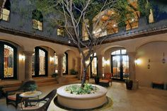 Spanish Style Homes with Courtyards   Spanish Colonial Estate - Luxury Calvis Wyant Homes