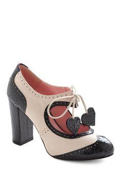 Pure Torture...  Heart Work and Dedication Heel   Mod Retro Vintage Heels   ModCloth.com