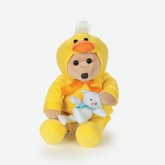 Plush Bear In Duck Costume - OrientalTrading.com 7.25ea