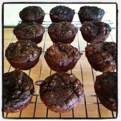 Vegan/Clean-Eating Chocolate Zucchini Muffins