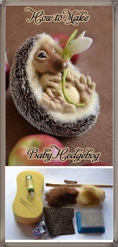 How to Make Baby Hedgehog. Amazing tutorial:)