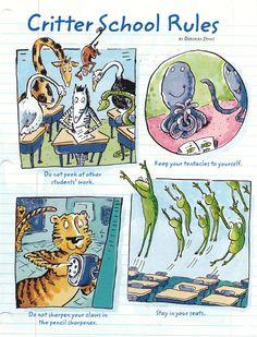 Back-to-School Critter Rules by Deborah Zemke from Ranger Rick Magazine school rule