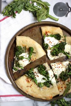 Broccoli Rabe & Burrata Pizza | Baker By Nature