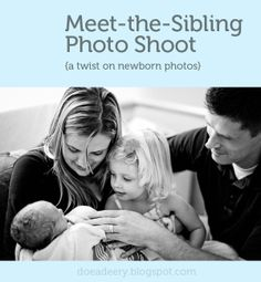 Love this twist on newborn hospital photos: documenting the older sibling meeting the baby for the first time - I especially like following the parent and older sibling down the hallway towards the hospital room