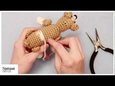 Natalie of Nattypat Crochet demonstrates how to embellish crochet amigurumi toys with embroidery, including the satin stitch. —Crochet Patterns & More: NattypatCrochet.com