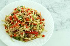 Chopped Asian Chicken Salad | The Slender Student