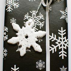 salt dough snowflakes