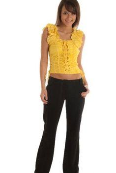 DHStyles Women's Cropped Meringue Cap Sleeve Corset Top