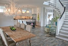 Sitting area in the kitchen/dining area  House of Turquoise: Amy Wagner + Jill Gaynor