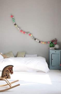 simple kid's bed on the floor - like this.
