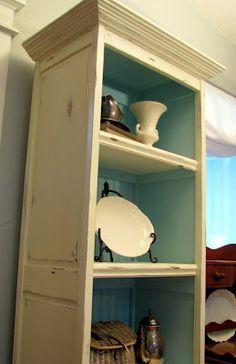 paint ideas, closet doors, cabinet, bookcas, shelv