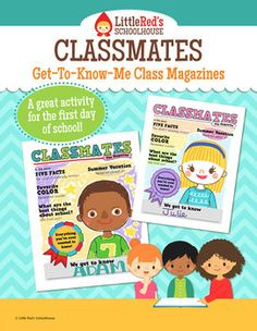 Back to School Get To Know Me Magazine Booklet Activity $