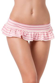 Cool! :)) Pin This &  Follow Us!  zBikinis.com is your Bikini Gallery ;) CLICK IMAGE TWICE for Pricing and Info :) SEE A LARGER SELECTION of skirted bottom at http://zbikinis.com/category/bikini-categories/bikini-swimsuit-bottoms/skirted-bikini-bottom/ - #bikini #bikinis #swimsuit #swimsuits #womens #swimwear #skirted #skirtedbikini -   Juicy Couture Boudoir Stripe Flirty Skirted Hipster Bottom – Boudoir Pink – M « zBikinis.com