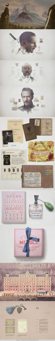 The Grand Budapest hotel brand ID