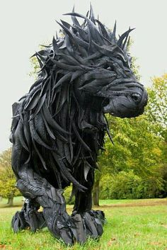 Constructed out of used rubber tires