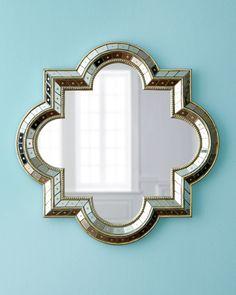 Pt Romi Violeta Quatrefoil Mirror