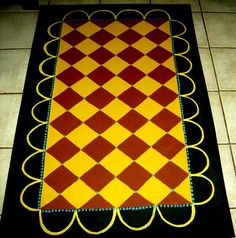FLOORCLOTH  Country Primitive Decor  hand by countryfloorcloths, $100.00