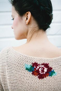 Roses Jumper pattern by Simone Francis