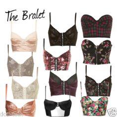 Crop corset bustier tops!