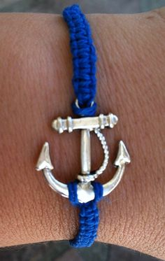 Blue Anchor Bracelet by krystleskrafts on Etsy, $5.00 RELISTED