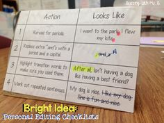 Bright Ideas Blog Hop: Personal Editing Checklists