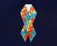 A wearable awareness ribbon.