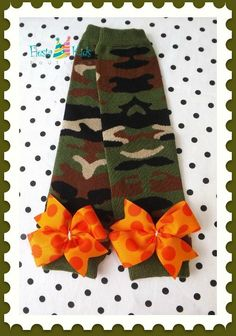 CAMO GIRL leg warmers, birthday girl outfit by FiestaKidsBoutique