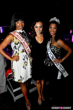 Miss DC 2011 Ashley Boalch, America's Miss DC 2012 Sarah Hillware and Miss Wyoming United States 2012 Mary David