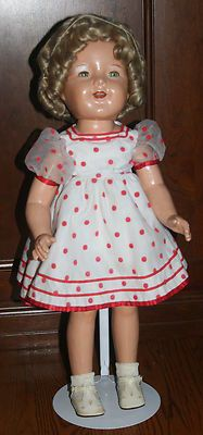 """22"""" Compo Shirley Temple No Markings"""