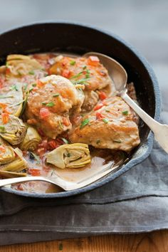 Braised Chicken and Artichokes