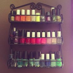 Spice rack as a nail polish holder!   brilliant! don't know why I didn't think of this before! ah!