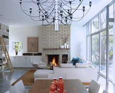 Newport Beach Residence modern-living-room