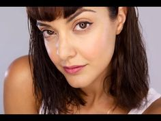 ▶ Dewy Natural Makeup For Tired Skin - YouTube Cliniques new cubby stick, Bobbi Brown Pot rouge for lips and cheek, Olay, Dermalogica, Rose toner, Armani Primer