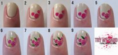 Try My Hand: Tutorial : Rose Floral (Alphabet Nail Art Challenge)