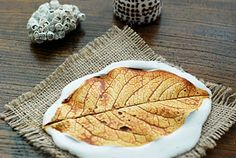 Plaster Leaf Prints  Can do same thing with salted dough or homemade cold porcelain
