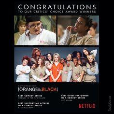 Congratulations to our Critics Choice Award Winners - Netflix ad