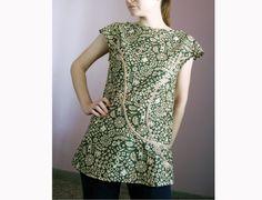 Tunic SM Small Sleeveless Top Long Blouse by magdamagdaFashion, $38.00