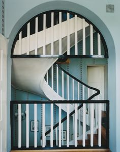 . paint ideas, arch, duck egg blue, future house, bedroom colors, black white, window design, paint colors, spiral staircases