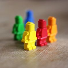 Learn how to make Lego men crayons!