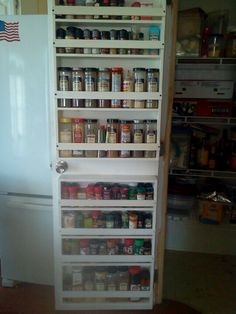 spice rack on back of pantry door