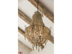 An antique pearl adorned chandelier. Malibu, CA Coldwell Banker Residential Brokerage $24,950,000
