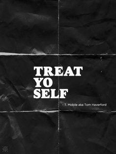 """Clothes:TREAT YO SELF!  Fragrances:TREAT YO SELF!  Massages:TREAT YO SELF!  Mimosas:TREAT YO SELF!   Fine leather goods:TREAT YO SELF!  It's the best day of the year"""