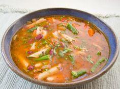 Slow Cooker Kidney Bean Pasta Soup