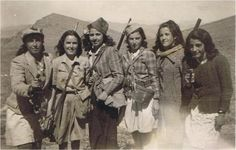 iranian women from Malayer (near Hamedan in the northwest) engaged in target practice in the Malayer city limits in the late 1950s.  The association between weapons and women is nothing new in Iran; Roman references for example note of Iranian women armed as regular troops in the armies of the Sassanians (224-651 AD). Western media and Eurocentrist academics have worked hard to block such images from appearing in mainstream Western culture.