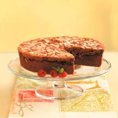 Chewy Chocolate Raspberry Cake (Intermediate; 12 servings) #chocolate #raspberry #cake #dessert
