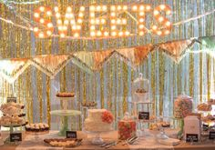 Marquee-Style Lighting Decor - Fun ideas for sign lamps at Christmas Lights, Etc.