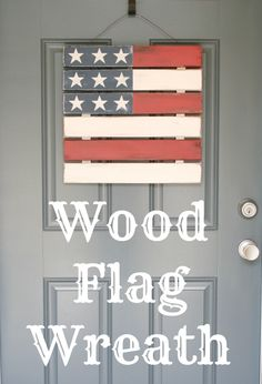 wood flag wreath
