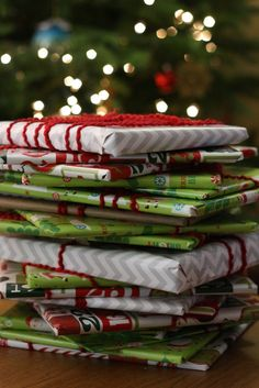 Wrap up twenty-five Christmas children's books and put them under the tree with a special Christmas quilt or blanket next to them. Before bed each evening, your kids choose one book to open and read together until Christmas. Love it!